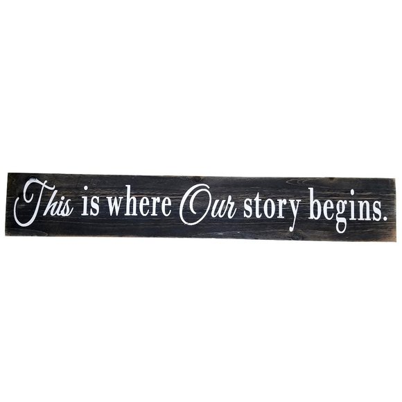 Other - 🆕This is where Our story begins Hanging Wall Sign